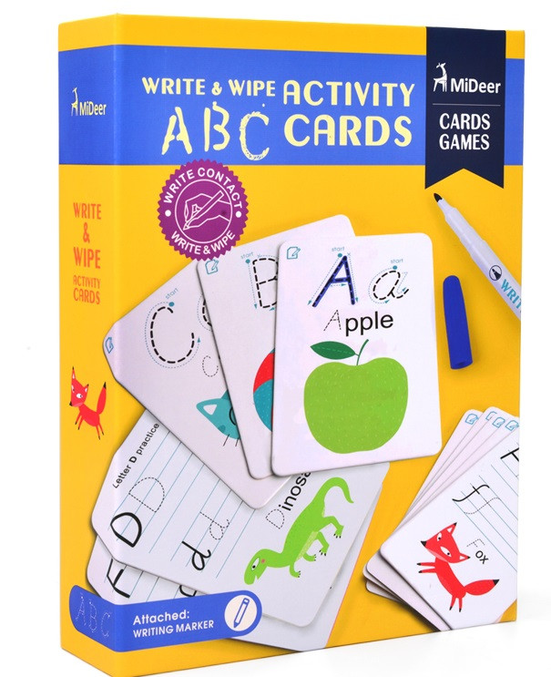 Набор карточек пищи-стирай ABC Алфавит Mideer (MD1032)