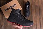 Мужские кожаные кроссовки на Меху | Reebok Black leather | Зимние мужские кроссовки | Зимние мужские кроссовки, фото 8