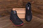 Мужские кожаные кроссовки на Меху | Reebok Black leather | Зимние мужские кроссовки | Зимние мужские кроссовки, фото 9