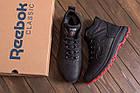 Мужские кожаные кроссовки на Меху | Reebok Black leather | Зимние мужские кроссовки | Зимние мужские кроссовки, фото 10