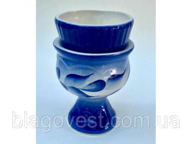 Керам. лампада СК со стаканом гжель (выс. 11см)