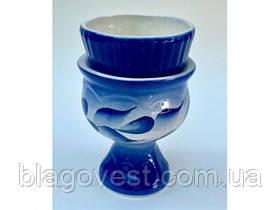 Керам. лампада СК зі склянкою гжель (вис. 11см)