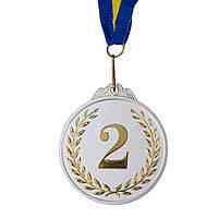 Нагородна Медаль з стрічкою d=65 мм, двоколірна 2