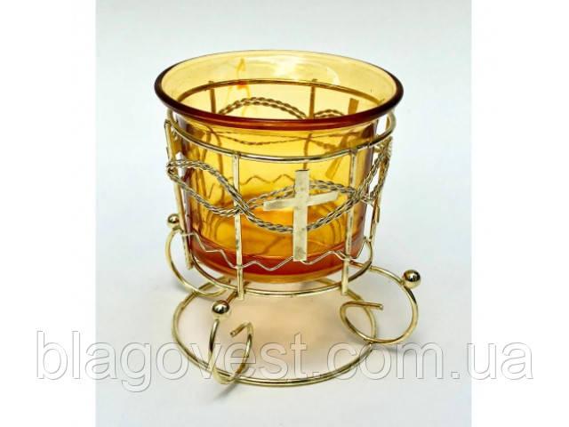 С Лампада настольная ажурная со стаканом (0-53)