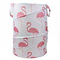 Корзина для игрушек M 3731 ( 3731-10 (Розовый фламинго на светлом фоне))