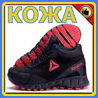 Кроссовки из натуральной кожи Reebok Crossfit | Зимние кроссовки мужские на меху | Обувь на зиму