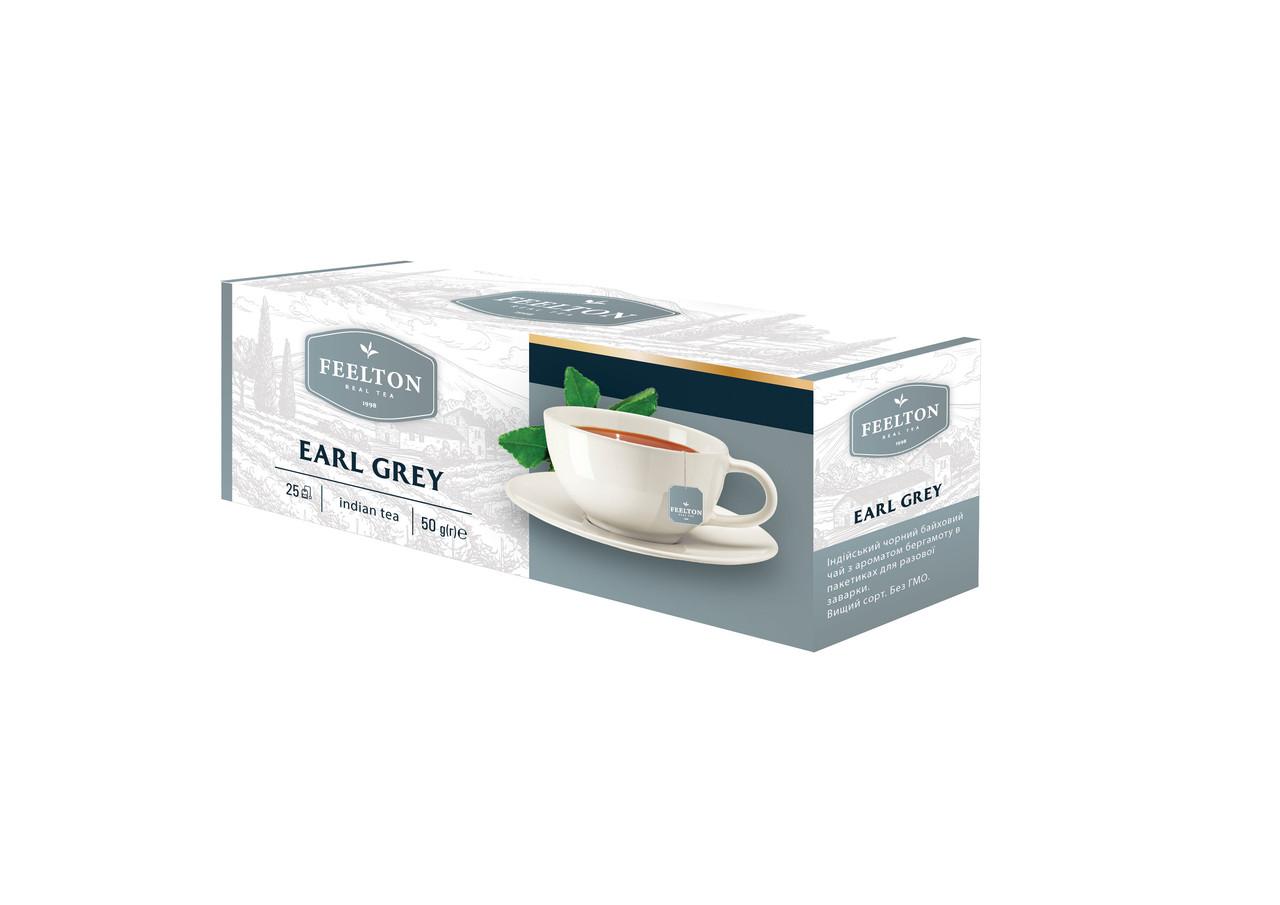 """Чай FEELTON """"Earl Grey """" 25*2г з/я ф/п чорний з аром. бергамоту"""