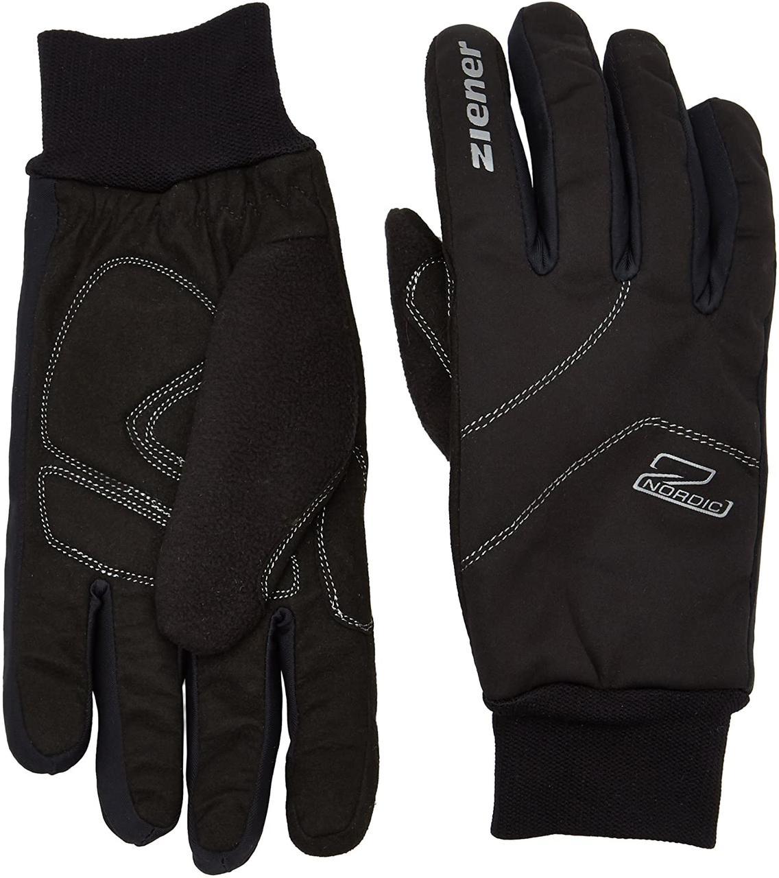 Гірськолижні рукавички Ziener Uller Crosscountry | розмір 10.5 | soft-shellспортивна, тепла північна софтшелл