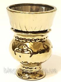 Керам. лампада діжечку булат (зі склянкою)