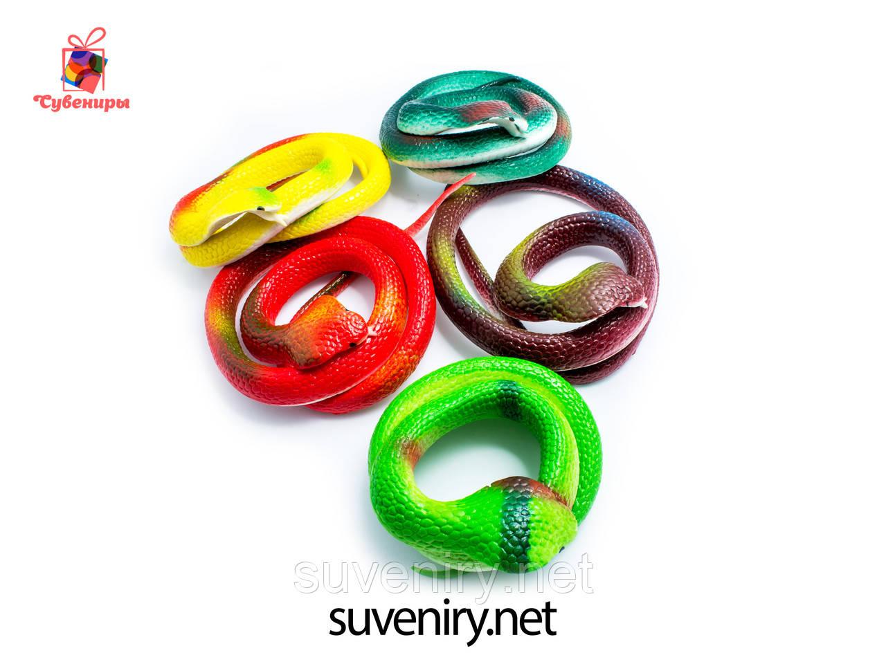 Детская игрушка змея кобра силиконовая длина 70см