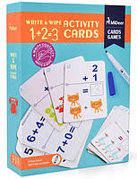 Набор математических карточек пиши-стирай 1+2=3 Mideer (MD1034), фото 1