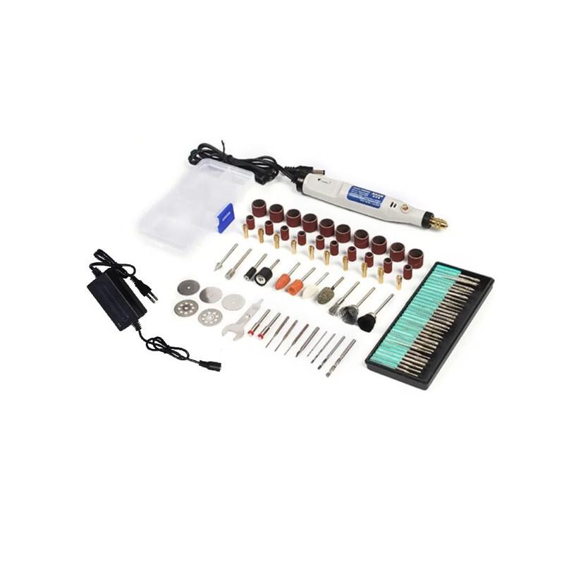 HILDA JD5202 мини-дрель гравер 18В 5000-18000 об/мин + комплект насадок
