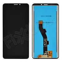 Дисплей для Meizu M8 Lite с тачскрином в сборе, цвет черный, оригинал