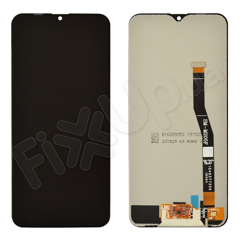 Дисплей для Samsung M205F DS Galaxy M20 с тачскрином в сборе, цвет черный, TFT с регулировкой яркост