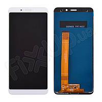 Дисплей для Meizu M6s с тачскрином в сборе, цвет белый, копия высокого качества