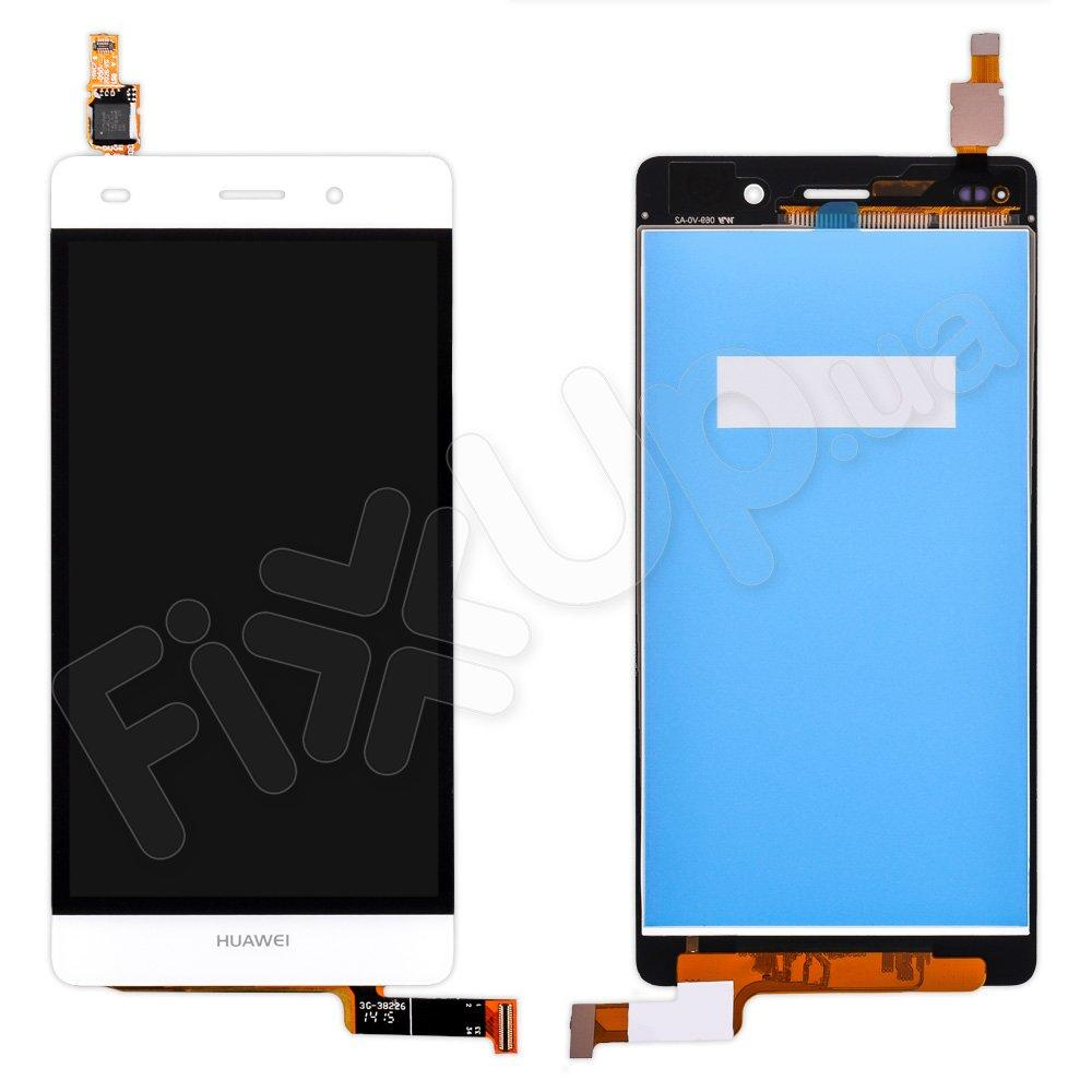 Дисплей Huawei P8 Lite (ALE L21, L20, L22) с тачскрином в сборе, цвет белый