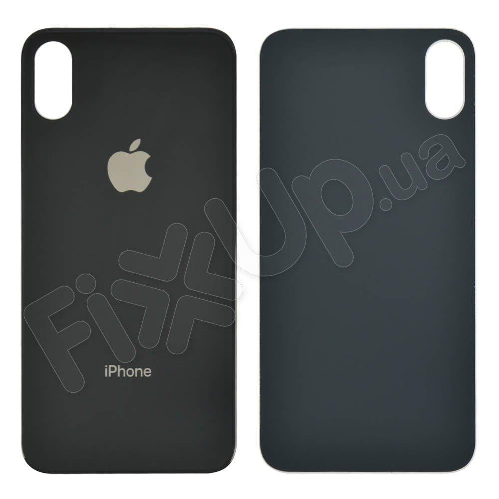 Задняя крышка для iPhone XS, цвет space grey, с большим отверстием под камеру