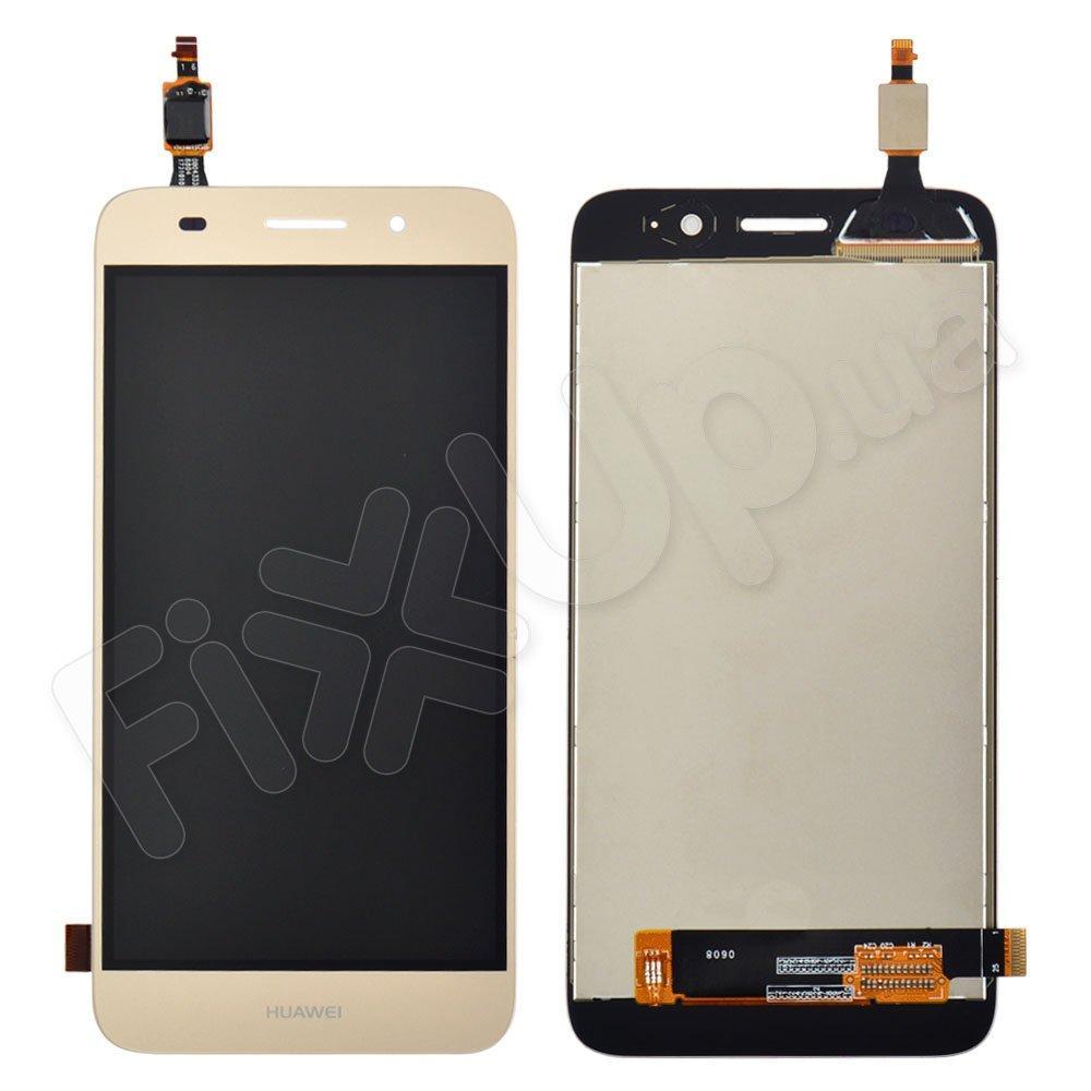 Дисплей Huawei Y3, Y5 Lite 2017 (CRO-U00, CRO-L02, CRO-L22), с тачскрином в сборе, цвет золотой, уце
