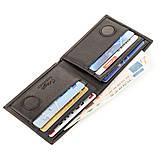 Зажим портмоне мужской кожаный KARYA 17246 Черный, фото 4