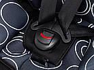 Автокресло Bair Beta Iso-fix 1/2/3 (9-36 кг) DBI1424 черный - темно-синий (круги), фото 4