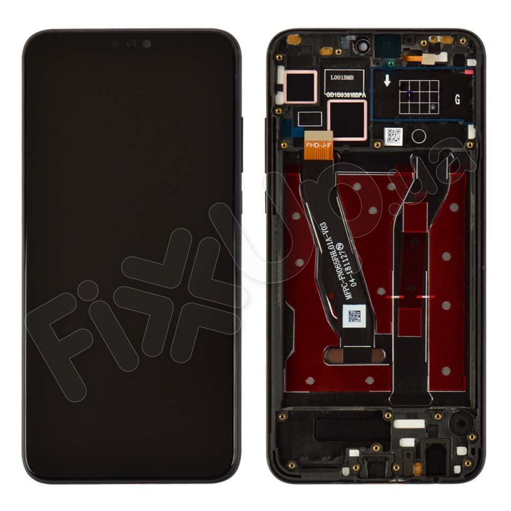 Дисплей для Huawei Honor 8X с тачскрином и рамкой в сборе, цвет черный, оригинал
