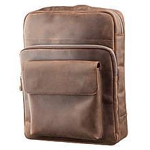 Рюкзак унисекс из матовой кожи SHVIGEL 11175 Коричневый