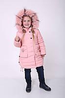 Детские зимние куртки для девочек с натуральным мехом 24-размер