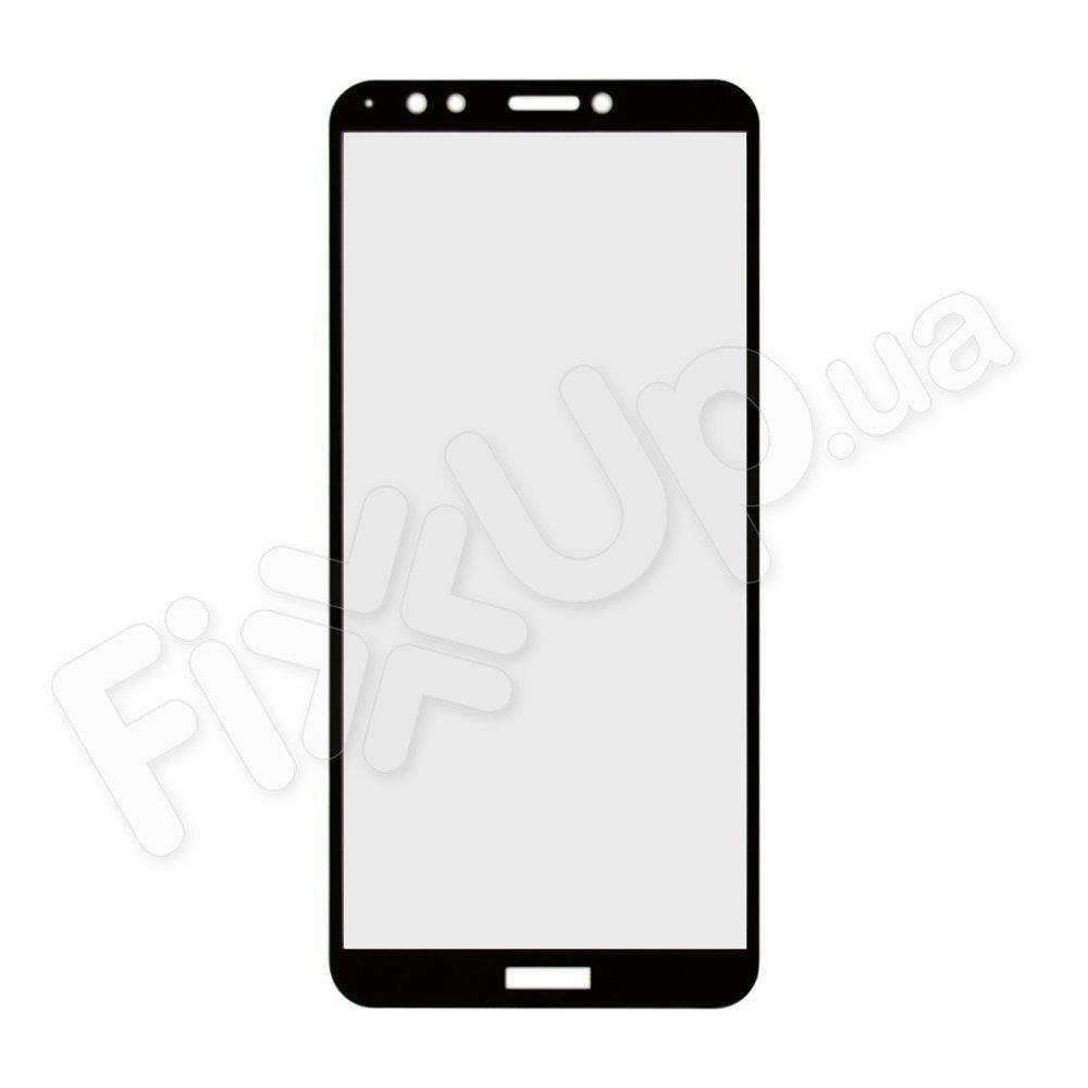 Защитное стекло для Huawei Y7 Prime (2018) 3D, цвет черный