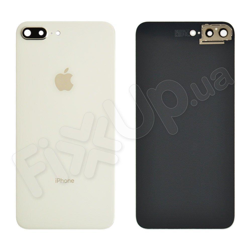 Задняя крышка для iPhone 8 Plus (5.5) с стеклом камеры, цвет серебро