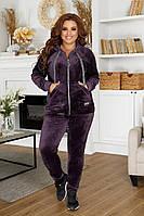 Спортивный костюм велюровый с брюк и мастерки с капюшоном разные цвета р.50 52 54 код 109Б
