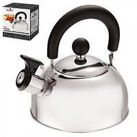 Чайник для плиты металлический одинарное дно 1,6 л