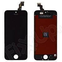 Дисплей iPhone 5C с тачскрином в сборе, цвет черный, копия высокого качества