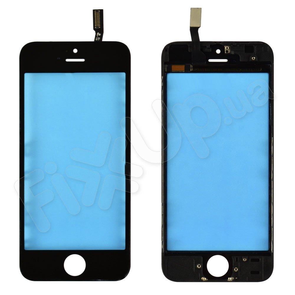 Тачскрин для iPhone 5S с рамкой, цвет черный