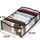 Набор разделителей для вертикального хранения вещей 4 шт. (черный), фото 5