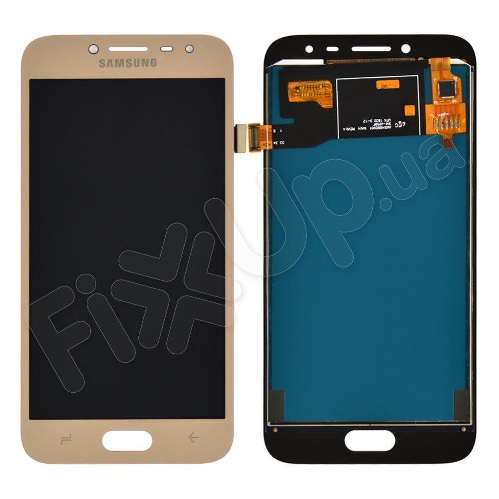 Дисплей для Samsung J250H /DS Galaxy J2 (2018) с тачскрином в сборе, цвет золотой, TFT с регулировкой яркости