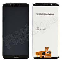 Дисплей для Huawei Y7 Prime (2018), Nova 2 Lite с тачскрином в сборе, цвет черный, копия высокого ка