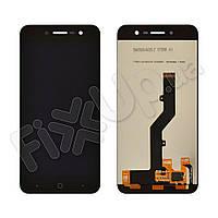 Дисплей для ZTE Blade A520 с тачскрином в сборе, цвет черный