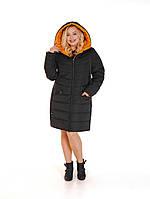 Женская зимняя куртка из плащевой ткани с отделкой, р. с 48 по 60