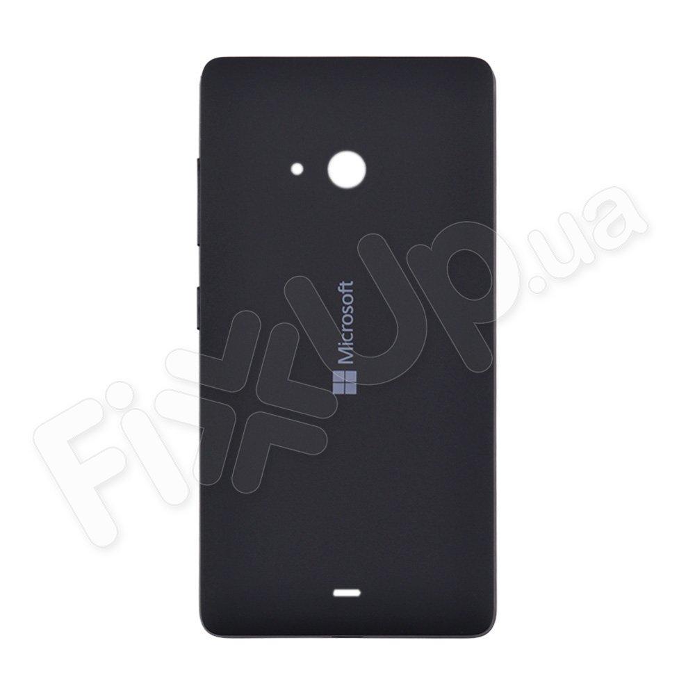 Задняя крышка для Microsoft (Nokia) 540 Lumia Dual Sim (RM-1140/RM-1141), цвет черный