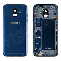 Задняя крышка для Samsung A600F Galaxy A6 (2018), цвет синий