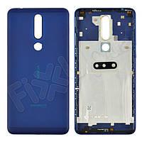Задня кришка для Nokia 3.1 Plus Dual Sim, колір синій