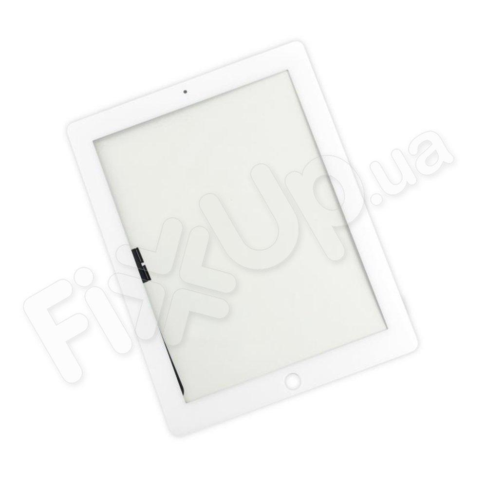 Тачскрин iPad New 3, 4 со стеклом, цвет белый, оригинал