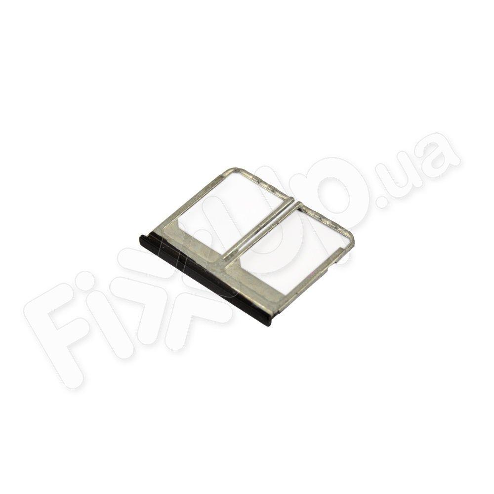 Держатель сим карты для HTC One M8 Dual Sim NANO, цвет черный