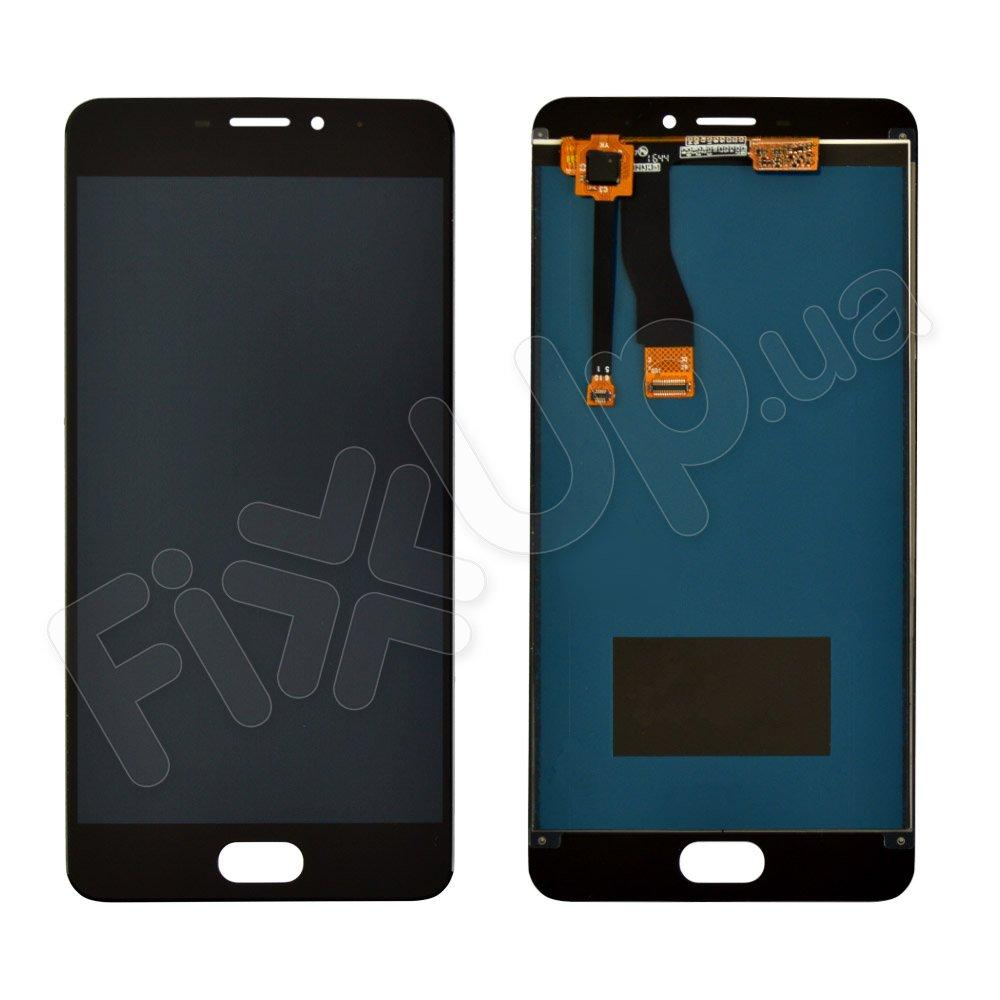 Дисплей для Meizu M5 Note с тачскрином в сборе, цвет черный, копия высокого качества