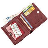 Небольшой женский бумажник с монетницей ST Leather 18920 Бордовый, фото 3