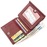 Небольшой женский бумажник с монетницей ST Leather 18920 Бордовый, фото 4