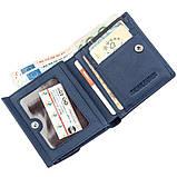 Компактный женский бумажник на кнопке ST Leather 18921 Синий, фото 3