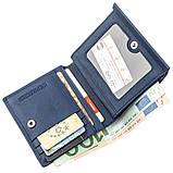 Компактный женский бумажник на кнопке ST Leather 18921 Синий, фото 4