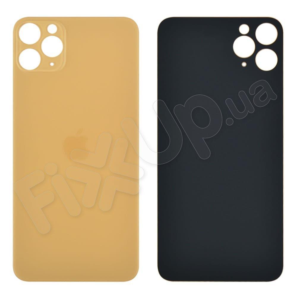 Задняя крышка для iPhone 11 Pro Max, цвет золотой, с большим отверстием под камеру