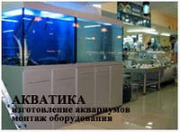 Коммерческие аквариумы Акватика в супермаркетах